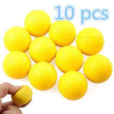 10 X Yellow Light Indoor Training Aid Practice Golf Sports Elastic PU Foam Balls