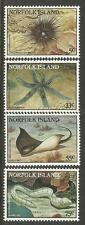 NORFOLK IS 1986 REEF CREATURES Marine Life Set 4v MNH