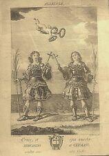 MERIDA, santos Servando y Germano, obra del  grabador José Rico, final s. XVIII