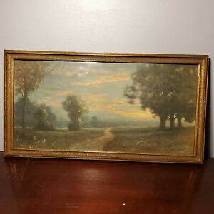 Antique R Atkinson Fox Framed Print Morris & Bendien NY Scenic Landscape