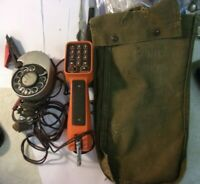 AT&T System Lineman Butt Set Push Button Phone Line Tester 52A & Bag REDUCED