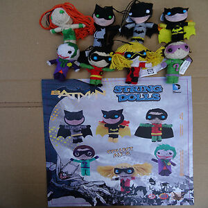 DC Comics Batman string dolls characters 8 to choose from Keychain, wool charm
