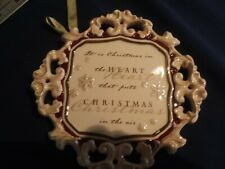 NEW GRASSLANDS ROAD PORCELAIN WALL PLAQUE CHRISTMAS CHEER IN THE HEART