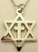 Messianic Cross Star of David Jews for Jesus Israel Necklace Charm PENDANT