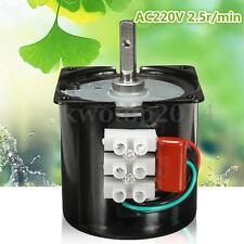 220V 2.5RPM High Torque Speed Reducing Gear Box Electric Synchronous Gear Motor