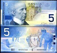 CANADA 5 DOLLARS 2002/2005 P 101 UNC
