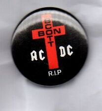 ACDC r.i.p Bon Scott Button Badge - CLASSIC ROCK BAND Highway To Hell 25MM AC/DC