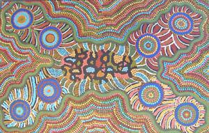 Australian Indigenous Dot Painting, Christine Peterson Nungala, Papunya Tula