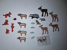 Playmobil lot de 22 animaux thème forêt
