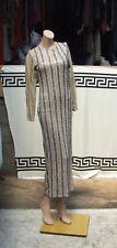 Gorgeous Brown & Mocha Sequin Full Length Evening Gown Long Maxi Eve Dress UK 8