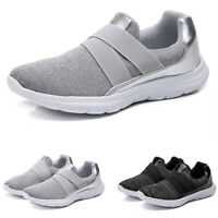 Women's Causal Elastic Slip On Light Weight Fashion Sneaker Running Shoes Size