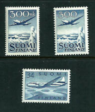 3 stamps - Finland Air Post 1949-52