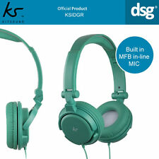 ORIGINAL KITSOUND KSIDGR WIRED OVER-EAR HEADPHONES with MIC - GREEN