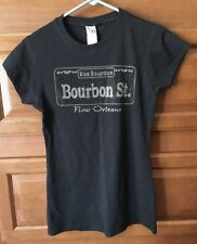 "NEW ""Shorty"" Large Rue Bourdon Black Bourbon St New Orleans Bling NWT T-Shirt"