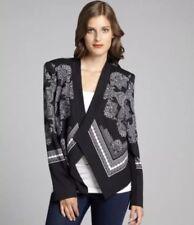 $368 BCBG MaxAzria Abree Scarf Print Blazer Jacket Size XS Baroque Paisley