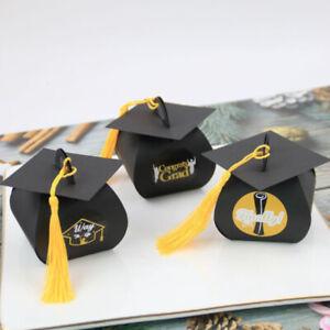 24pcs Black Hat Style Graduation Celebration Party Candy Box  Packaging Gift Js