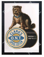 Historic Clark's Spool Cotton Advertising Postcard