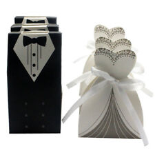 100x Dress & Tuxedo Bride Groom Wedding Favor Ribbon Candy Bomboniere Gift Boxes