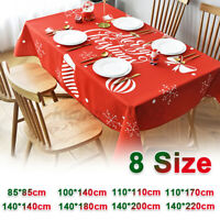 Rectangular Christmas Tablecloth Table Cloth Cover Xmas Festive Banquet Party