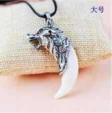 Unisex Brave Wolf Tooth Necklace Titanium Steel Domineering Pendant Jewelry Mens