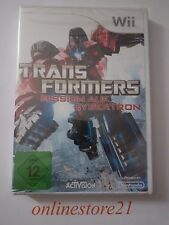 Transformers la mission sur Cybertron NINTENDO WII NEUF NEW complet en allemand