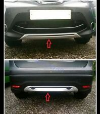 Front+Rear Bumper Skid Protector Guard Plate For Nissan Qashqai 2014 2015 2016