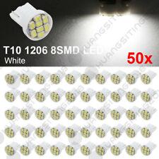 "Pinball Led Bulbs 50pcs T10 1206 White #906 ""Ultra Bright"" 8Led 12v Wedge 8Smd"