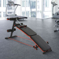 HOMCOM Foldable Sit Up Bench Core Workout for Fitness Exercise Home Gym Black