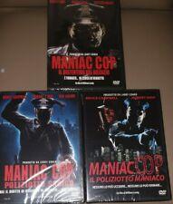 3 DVD MANIAC COP(1+2+3)Poliziotto sadico il distintivo ed.vendita fuori catalogo