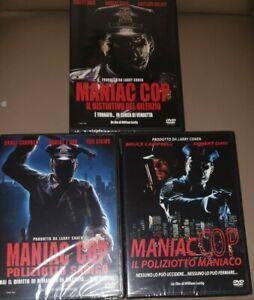 MANIAC COP 3 DVD(1+2+3)Poliziotto sadico il distintivo ed.vendita fuori catalogo