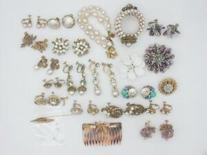 Lot Vintage Miriam Haskell Jewelry, Repair & Parts - Bracelets, Pins & Earrings