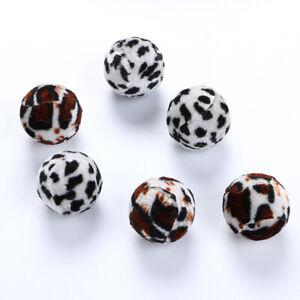 5Pcs Pet  Kitten Funny Zebra-stripe Leopard Ball  Toy Teaser Accessories