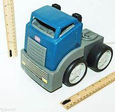"LITTLE TIKES VINTAGE BLUE GRAY SEMI TOY TRUCK CAB PLASTIC 6.5"" X 8"" VEHICLE USED"