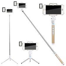 Zonman Selfie Stick for iPhone 6 5 + LED Light Portable Pocket Spotlight - Gold