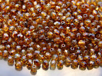 1200 Fire Polished Beads 4mm Crystal - Picasso WHOLESALE
