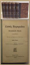Ludwig Anzengrubers Gesammelte Werke 1897 5 Bde Belletristik Klassiker sf