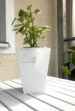 Blumentopf *2er Set * Übertopf * romantische Pflanzkübel *weiß*eckig #Balkondeko