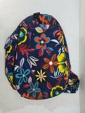 Lynne Tauschen Blue Floral Tennis Backpack