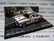 RIT13 voiture 1/43 IXO Altaya FORD escort RS 1800 mkII 1000 lacs 1981 VATANEN #2