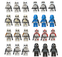 24pcs Minifigures Custom Lego Star Wars Phase 2 White Clone Trooper Army