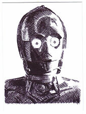 ACEO Sketch Card C-3PO See Threepio from Star Wars