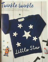 CROCHET PATTERN Childrens Little Star Jumper Embridered Stars Sweater Sublime DK