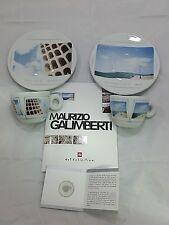 1 Set ILLY CAFFE' 2 Tazzine Espresso + 2 Piattini MAURIZIO GALIMBERTI cod. 22106