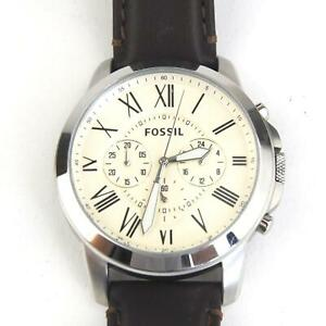 Fossil Grant FS4735 Chronograph Watch - Leather Strap - Recent New Battery