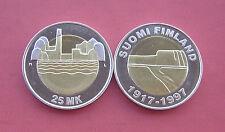 Finland 1997 80th Anniversary of Independence 25 Markkaa Bi-metallic Coin UNC