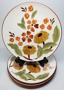 "Set of 3 - STANGL First Love 10-1/4"" Dinner Plates with Daisy Flowers - Vintage"