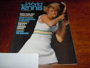 "VINTAGE JULY 1977 "" WORLD TENNIS "" MAGAZINE - SUE BARKER COVER"