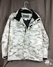 Snow Camo Snowboard Jacket / Ski Parka / Coat, Youth Large (16/18) w/ hood PULSE