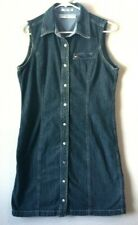 Tommy Hilfiger Women's Sleeveless Snap front Denim Jeans Dress size 12