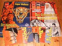 10 x A1 Filmplakate,KONVOLUT,SAMMLUNG,EDGAR WALLACE,HORROR,KRIMI